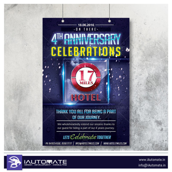 Anniversary celebration flyer design