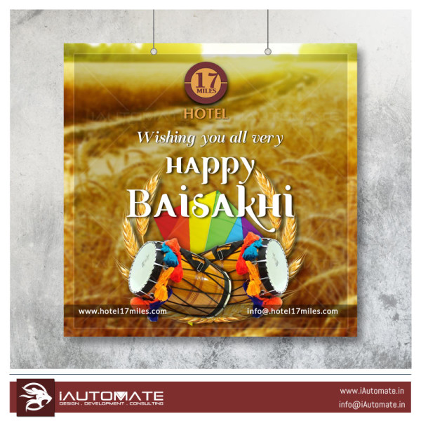 baisakhi wishes flyer design