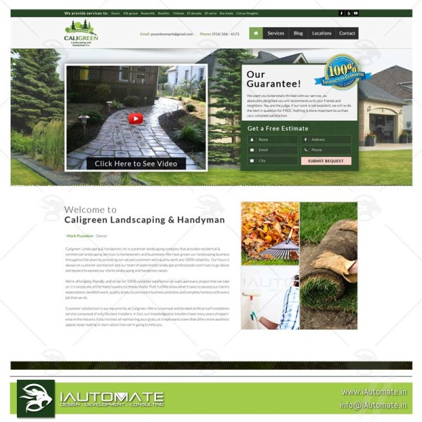 Lawn mowers Turf and Maintenance website