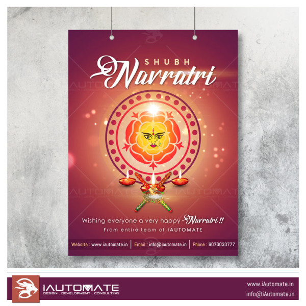 happy navratri poster design