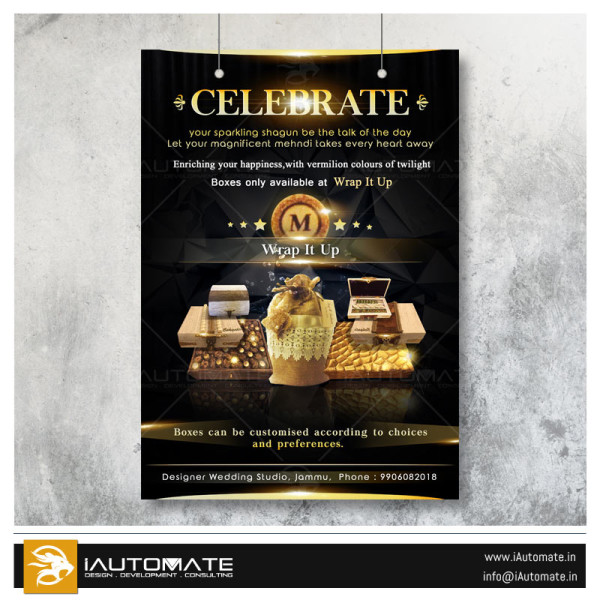 luxury company poster design