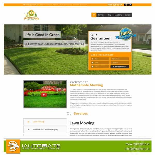 Lawncare Website Design