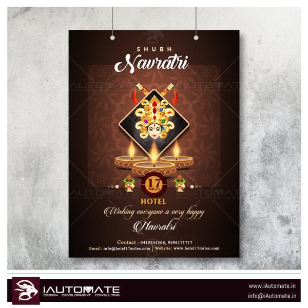 navratri beautiful flyer design