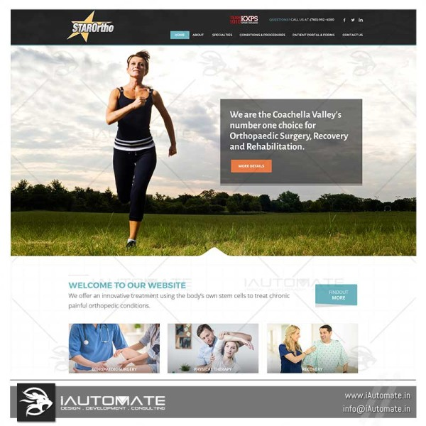 Orthopedician website development