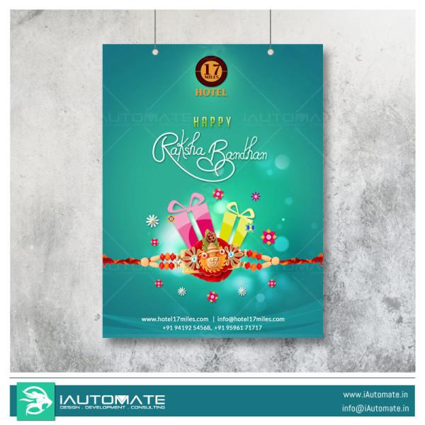 raksha bandhan poster design