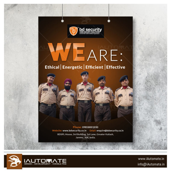 security & guarding poster design