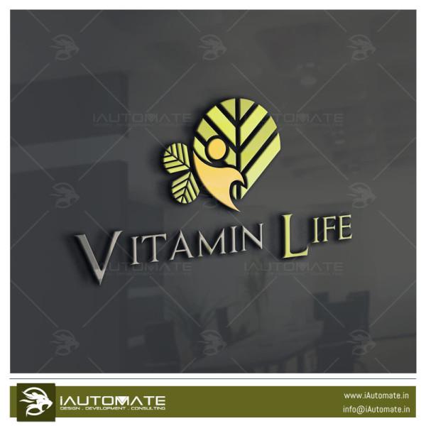 vitamin company logo design