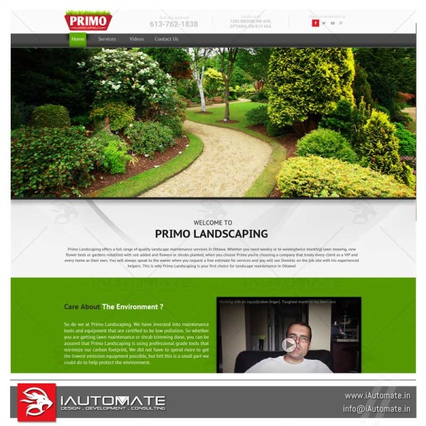 Primo Lawncare and landscaping wordpress
