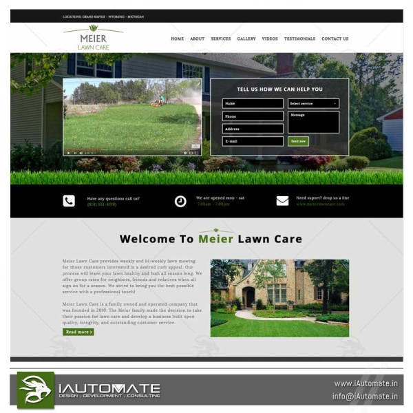 Meier Lawn Care wordpress website
