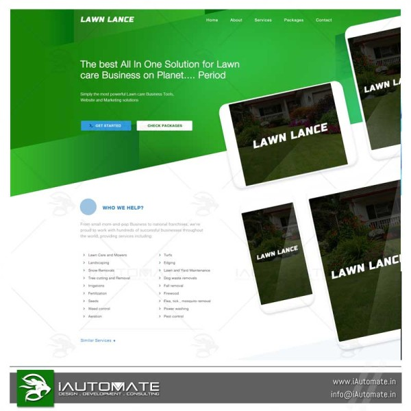 Lawncare Online Quote system
