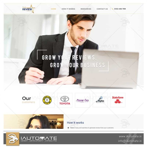Review Agency WordPress web design