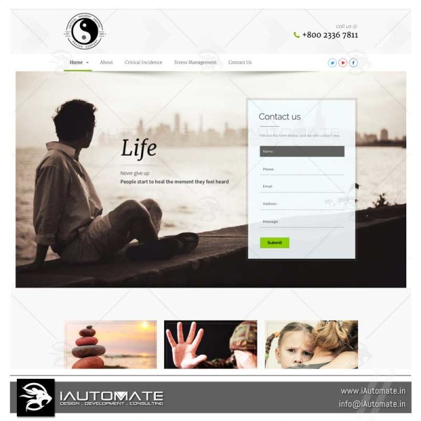 Mental Health WordPress web design