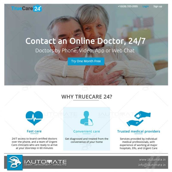 Truecare 24 wordpress web design
