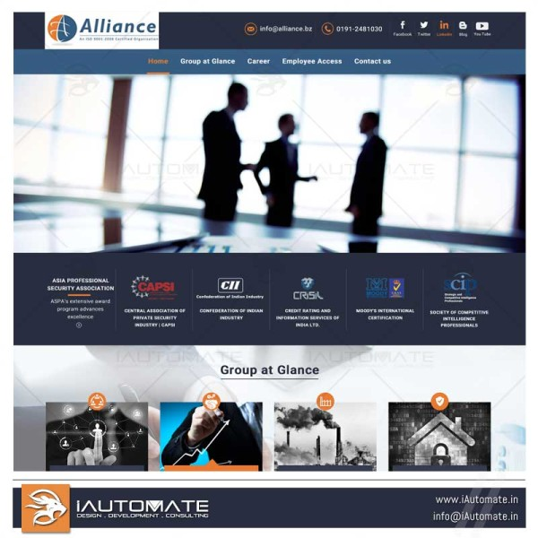 Alliance group of companies wordpress website