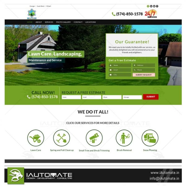 Granger Lawncare wordpress webdesign and development