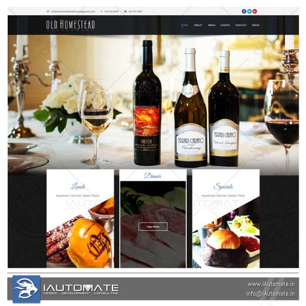 Steak House wordpress website and web design