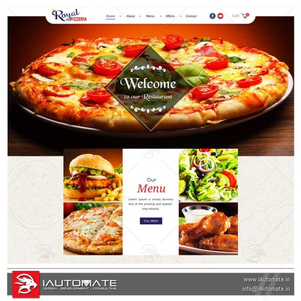 Pizzeria online ordering system and apps