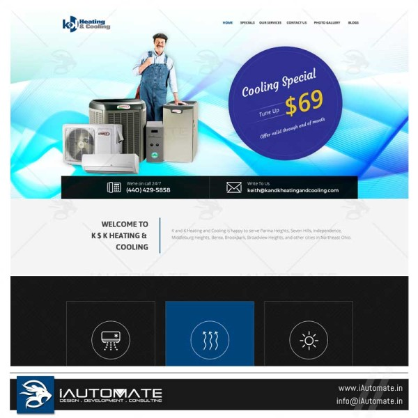 HAVAC WordPress web design and development