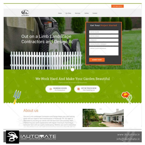 Landscaping wordpress website