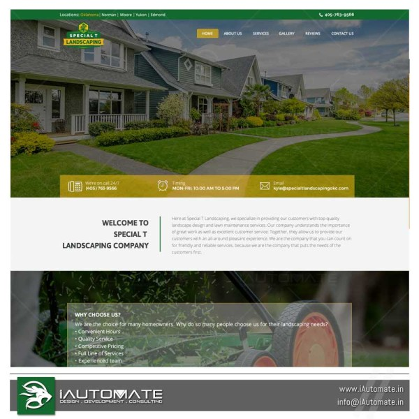Landscaping WordPress webdesign and development