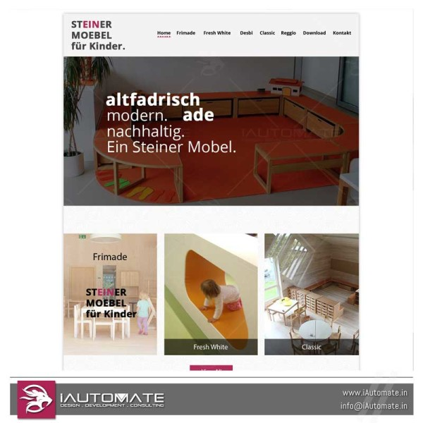Steiner Moebel wordpress webdesign