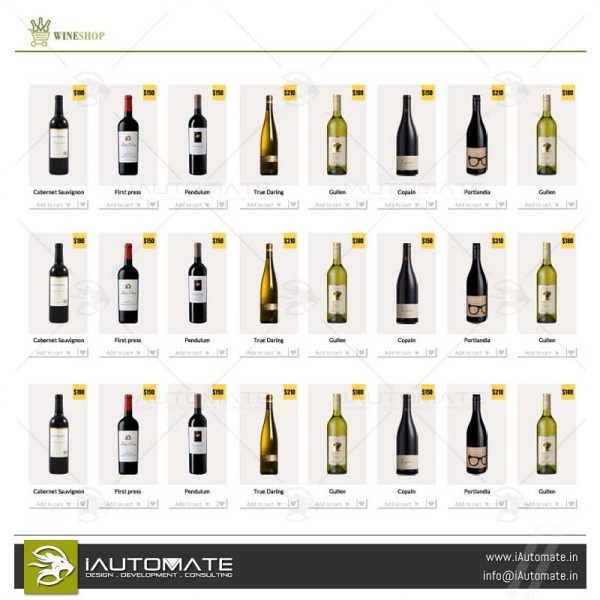 Wineshop design and development