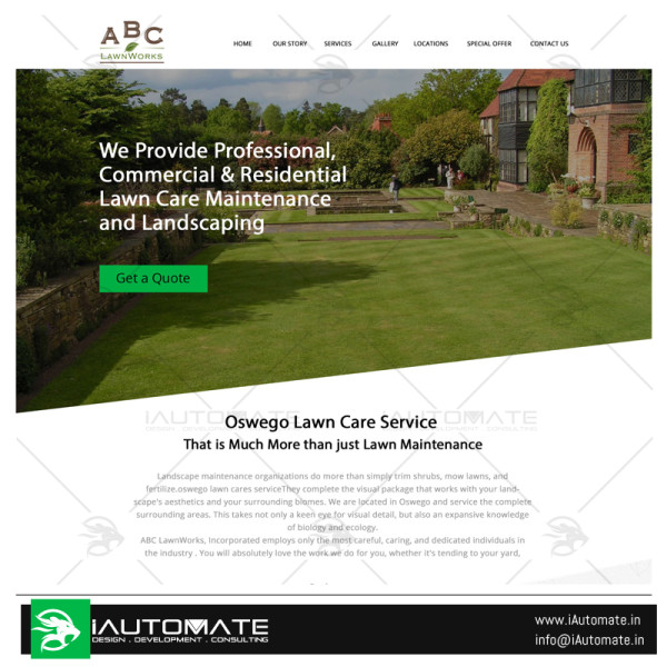 ABC lawnwork webdesign