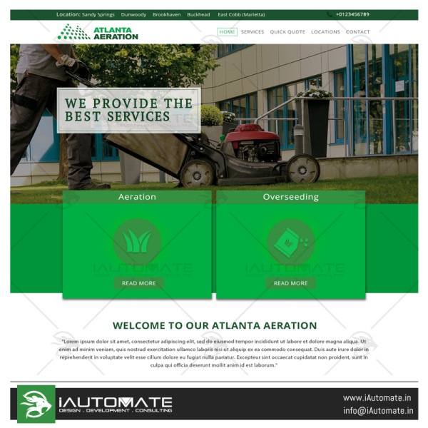 Atlanta Aeration Website design