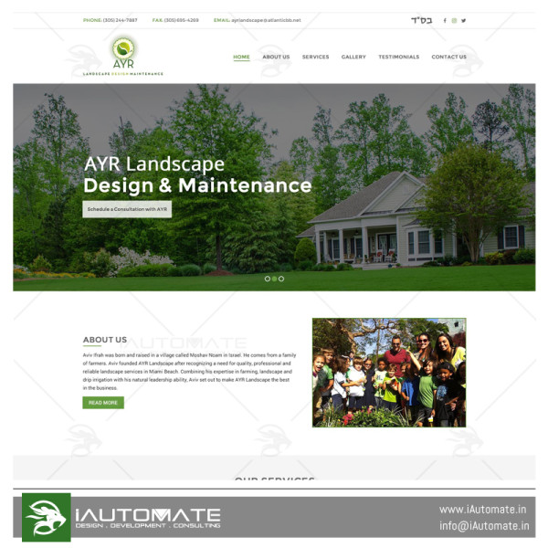 Ayr Landscape web development