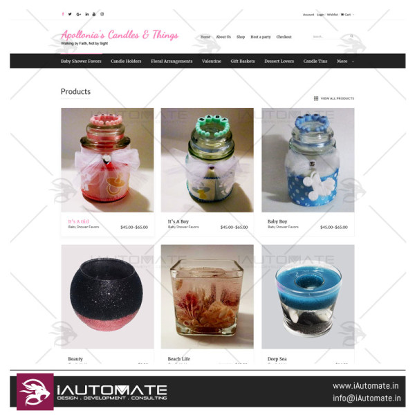 Apolloniascrafts website design
