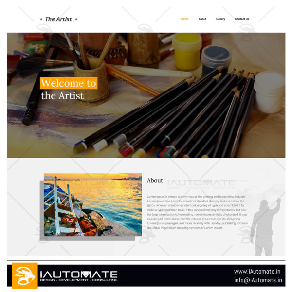 Artist demo web design