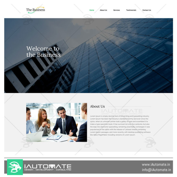 Business demo web design