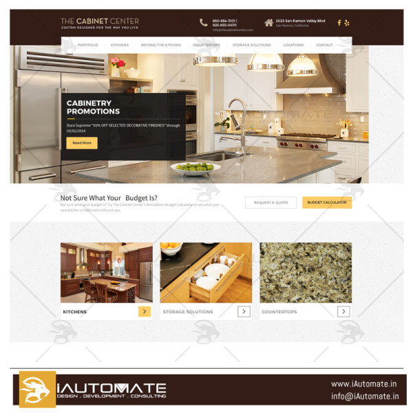 The Cabinate Center wordpress website design