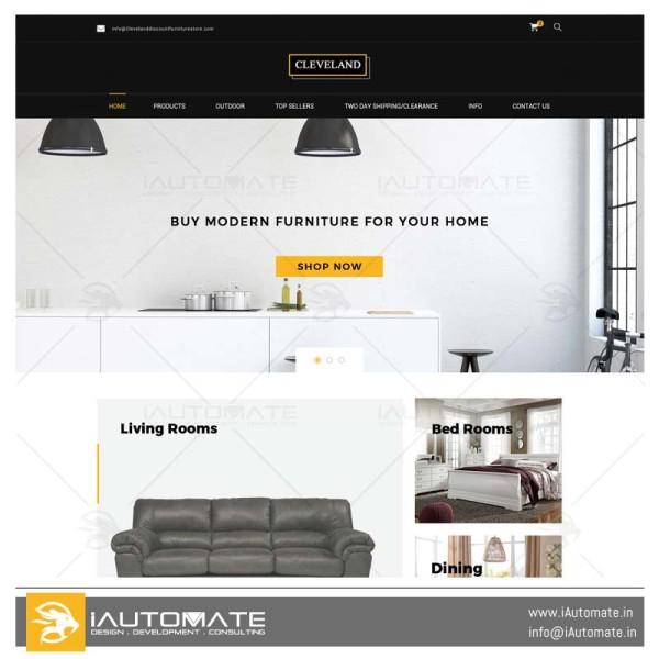 Cleveland Discount Furniture Store woocommerce development