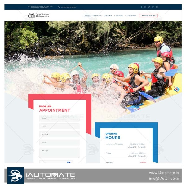 Cross Timbers Ortho websitedesign