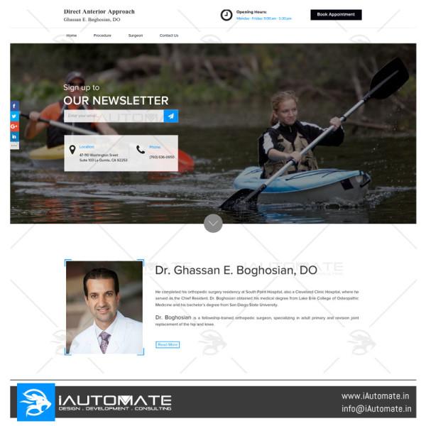 Dr. Boghosian website design