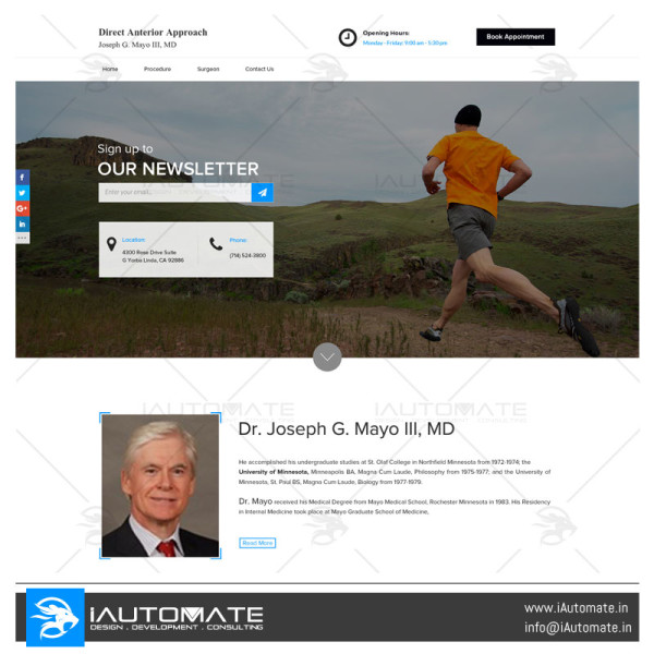Dr Mayo Surgeon web design