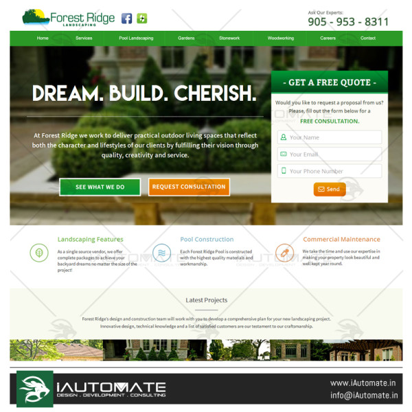 Forest Ridge Landscaping website