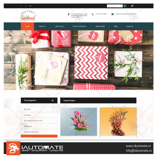Garland Gallery wordpress woocommerce design