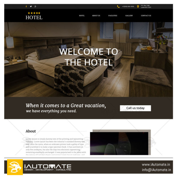 Hotel demo web design