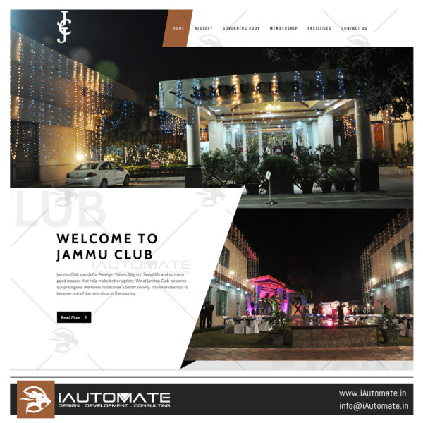 Jammu Club website design and development