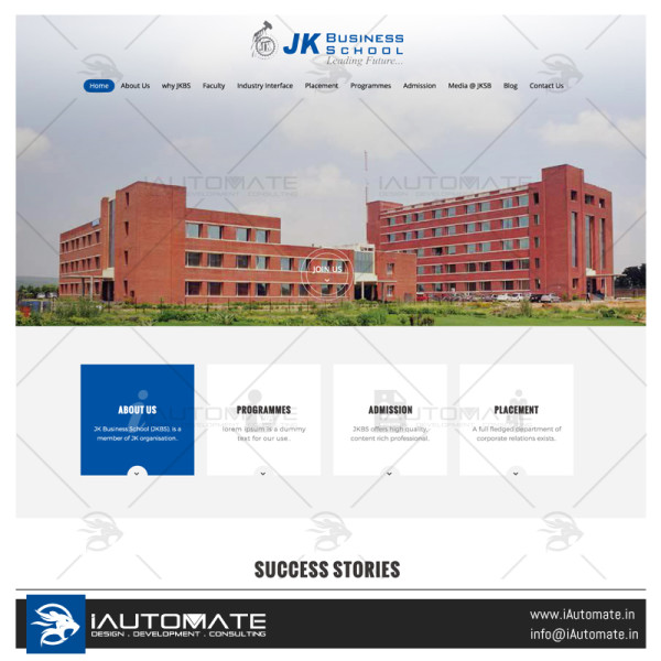 Jk business School webdesign