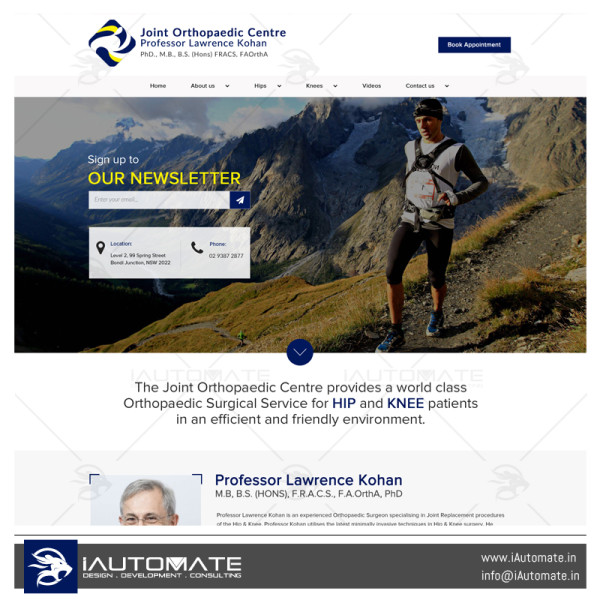 Joint Orthopaedic Center wordpress website