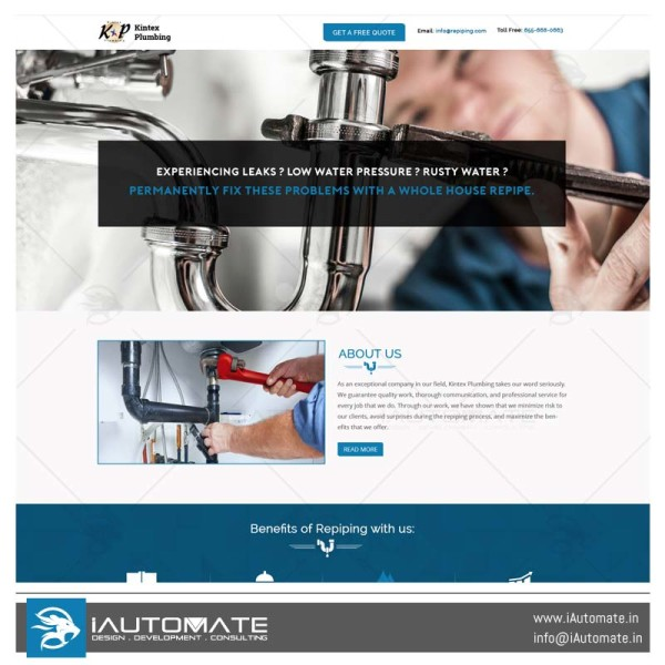 Kintexplumbing web design