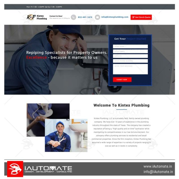 KT Group Inc web portal design
