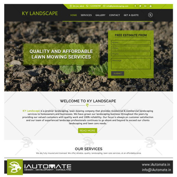 KY Landworx Website Design