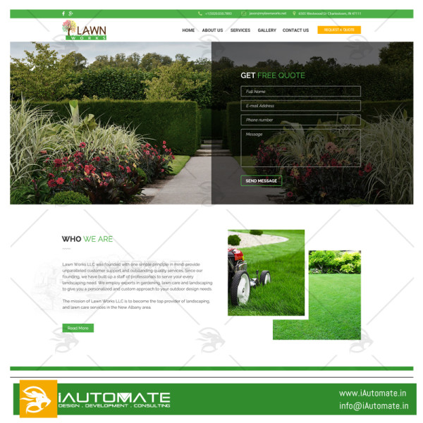 My Lawnworks webdesign and development