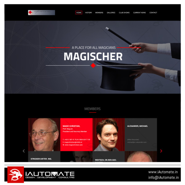 Magischerklub web development