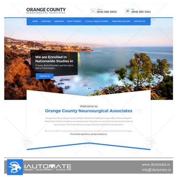Orange County Neurological Associates webdesign