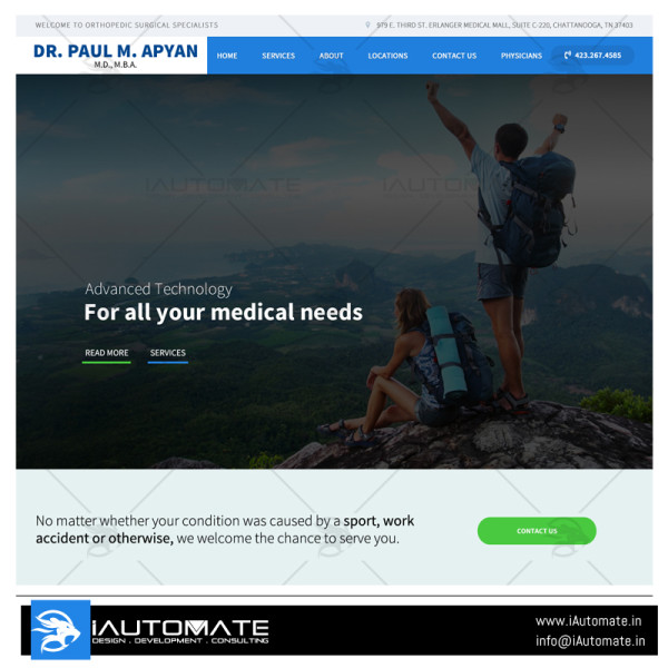 Orthopedic Surgical Specialists wordpress design
